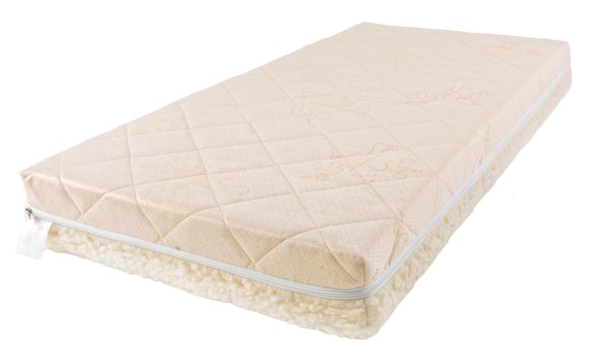 Купить Детский матрас класса Люкс BabySleep BioForm Cotton, размер 120 х 60 см.