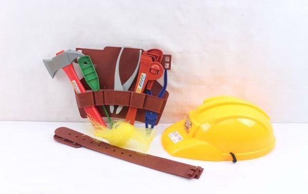 Набор строительных инструментов с каскойДетские мастерские, инструменты<br>Набор строительных инструментов с каской<br>