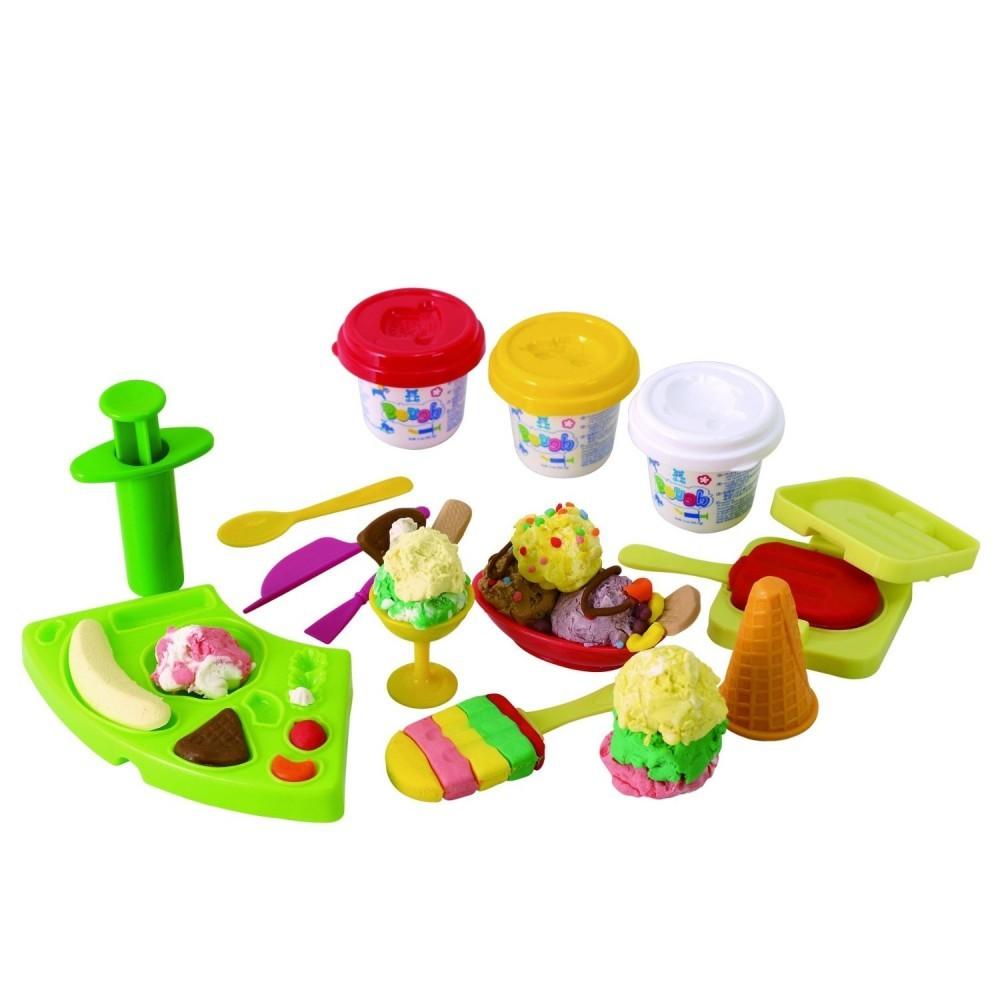 Набор с пластилином - МороженоеНаборы для лепки<br>Набор с пластилином - Мороженое<br>