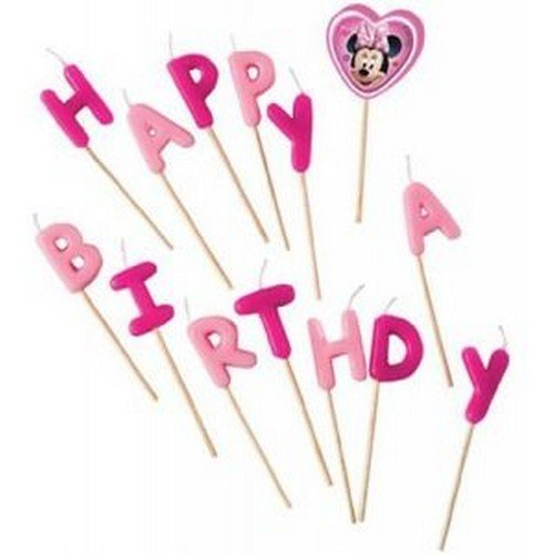 Свечи-буквы из серии Кафе Минни - Happy BirthdayСвечи для торта<br>Свечи-буквы из серии Кафе Минни - Happy Birthday<br>