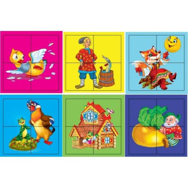 Набор из 4 кубиков «Русские сказки»Кубики<br>Набор из 4 кубиков «Русские сказки»<br>