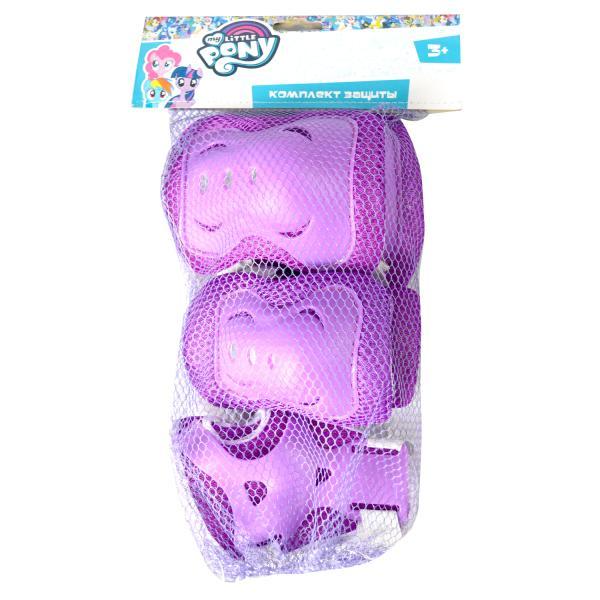 Комплект защиты для колен, локтей и запястий - Мой маленький пони, размер S, фиолетовый