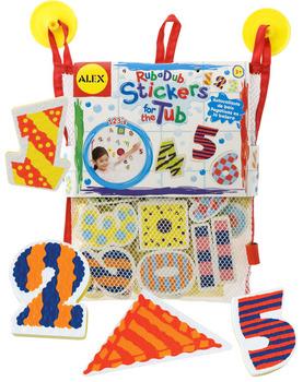 Набор стикеров для ванной  Числа и формы  - Игрушки для ванной, артикул: 33568
