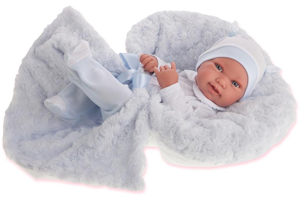 Кукла-младенец Эдуардо в голубом, 42 см.Куклы Антонио Хуан (Antonio Juan Munecas)<br>Кукла-младенец Эдуардо в голубом, 42 см.<br>