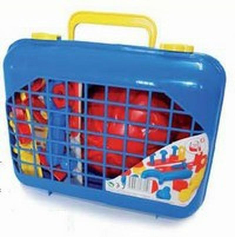 Детский игровой набор инструментов в чемоданеДетские мастерские, инструменты<br>Детский игровой набор инструментов в чемодане<br>