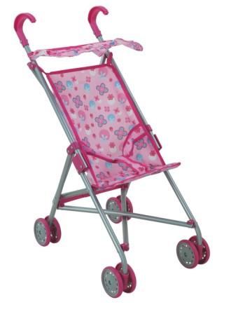 Купить Коляска для кукол - трость Buggy Boom Mixy металлическая, с крышей и поворотными передними колесами, 52 х 33 х 56 см.