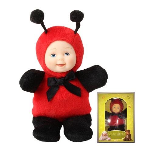 Кукла из серии «Детки - божьи коровки», 15 смКуклы детки ANNE GEDDES<br>Кукла из серии «Детки - божьи коровки», 15 см<br>