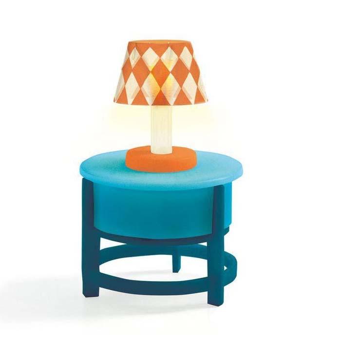 Купить Мебель для кукольного дома – Ночник, свет, Djeco