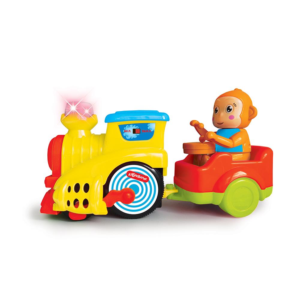 Музыкальная игрушка - Веселый паровозик, желтый фото