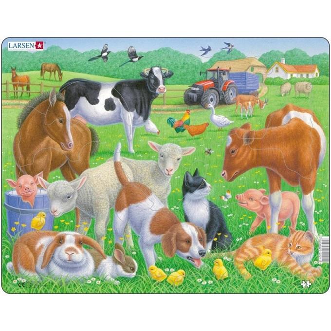 картинка Пазл - Обитатели фермы, 15 деталей от магазина Bebikam.ru