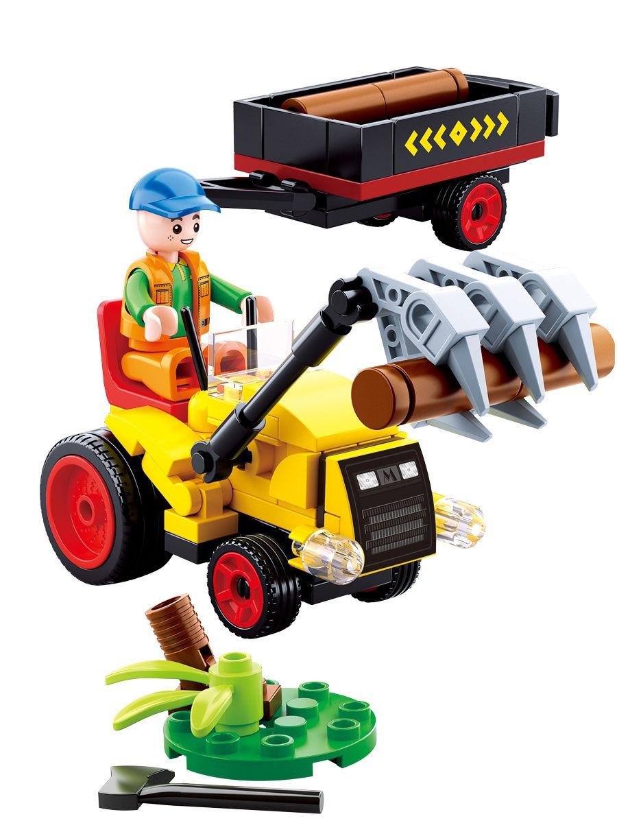 Конструктор – Ферма: трактор с фигуркой, 110 деталей