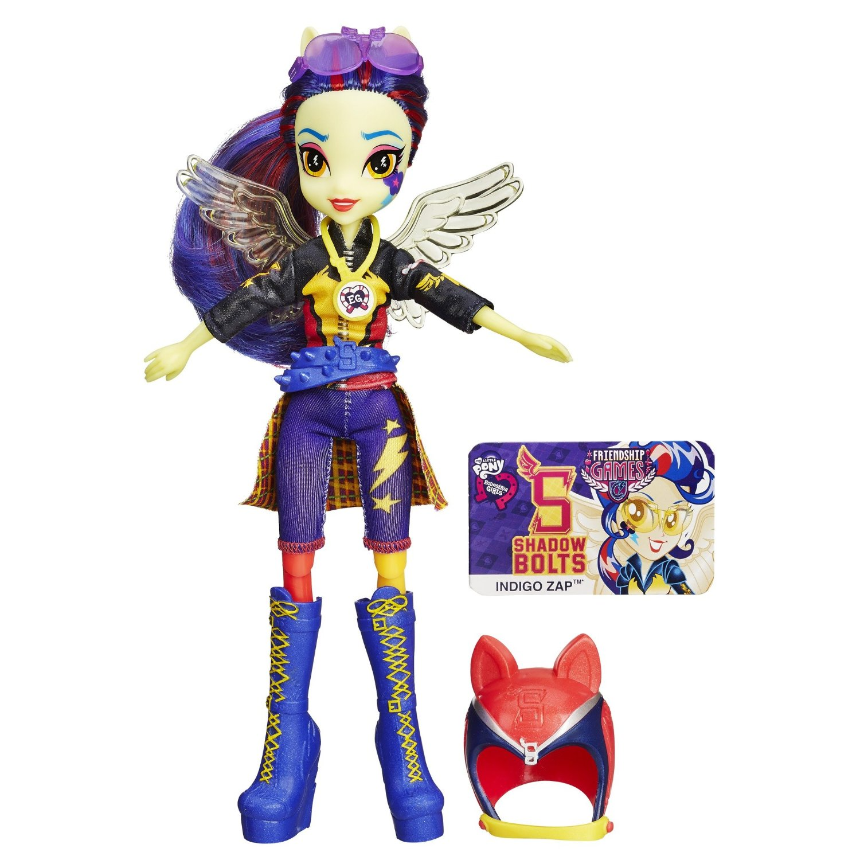 Кукла Индиго гонщица с шлемом из серии Эквестрия ГерлзКуклы Девушки Эквестрии (Equestria Girls)<br>Кукла Индиго гонщица с шлемом из серии Эквестрия Герлз<br>