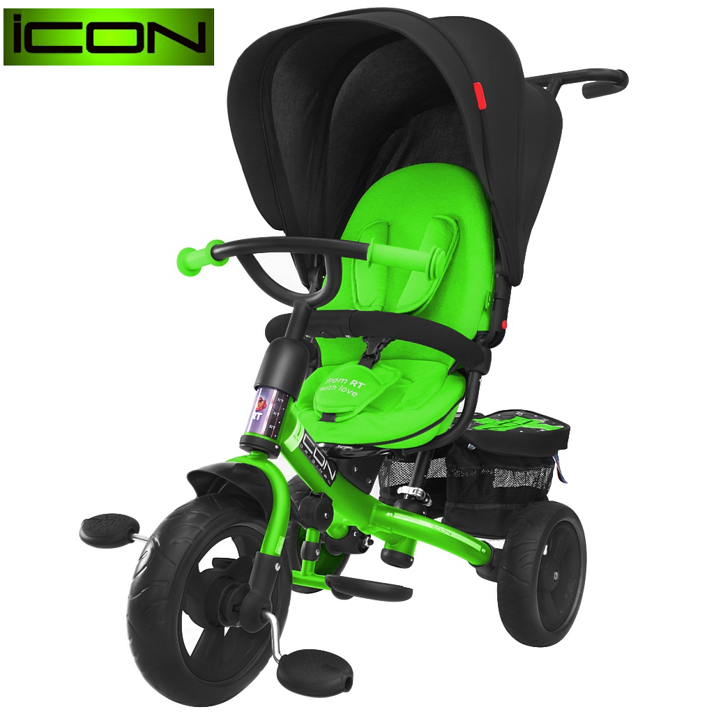 ICON RT original 3-х колёсный велосипед RT Icon evoque New Stroller by Natali Prigaro EVA Emerald, изумрудный