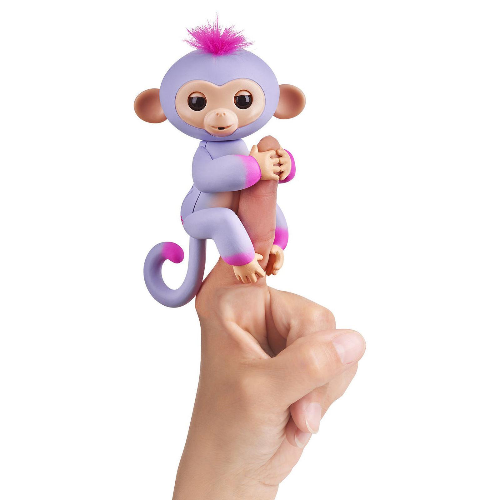 Купить Интерактивная обезьянка Сидней, цвет - пурпур и розовая, 12 см., WowWee