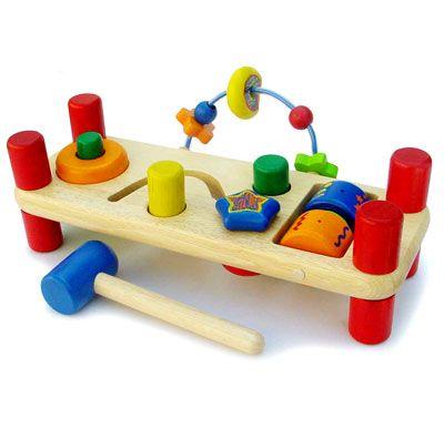 Развивающая деревянная скамейка - Деревянные игрушки, артикул: 6020