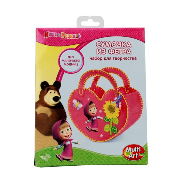 Набор для творчества - Маша и Медведь - Сделай сумочку из фетраМоя маленькая пони (My Little Pony)<br>Набор для творчества - Маша и Медведь - Сделай сумочку из фетра<br>