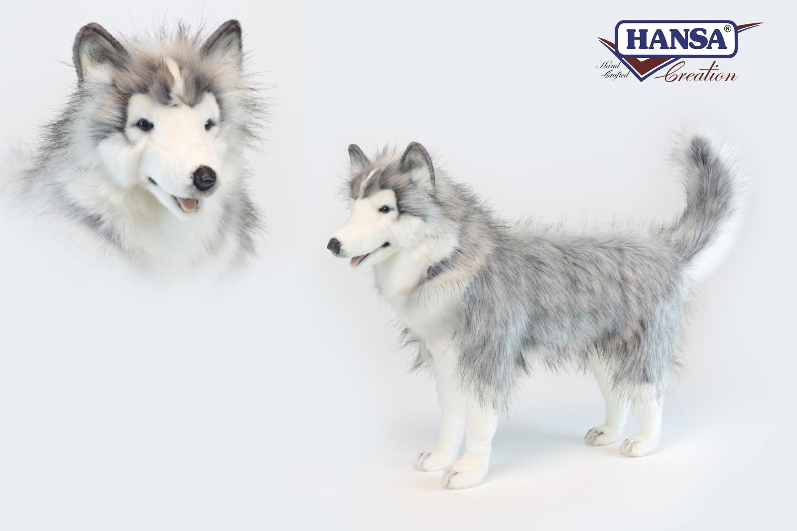 Хаски серый, стоящий, 75 смСобаки<br>Хаски серый, стоящий, 75 см<br>