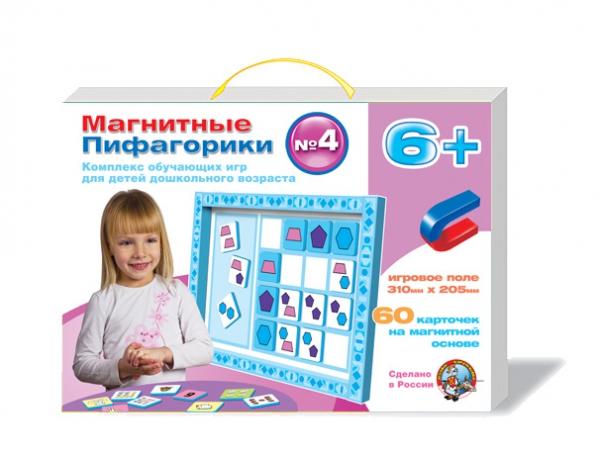 Магнитные Пифагорики: комплекс обучающих игр для детей дошкольного возраста, номер 4Для самых маленьких<br>Магнитные Пифагорики: комплекс обучающих игр для детей дошкольного возраста, номер 4<br>