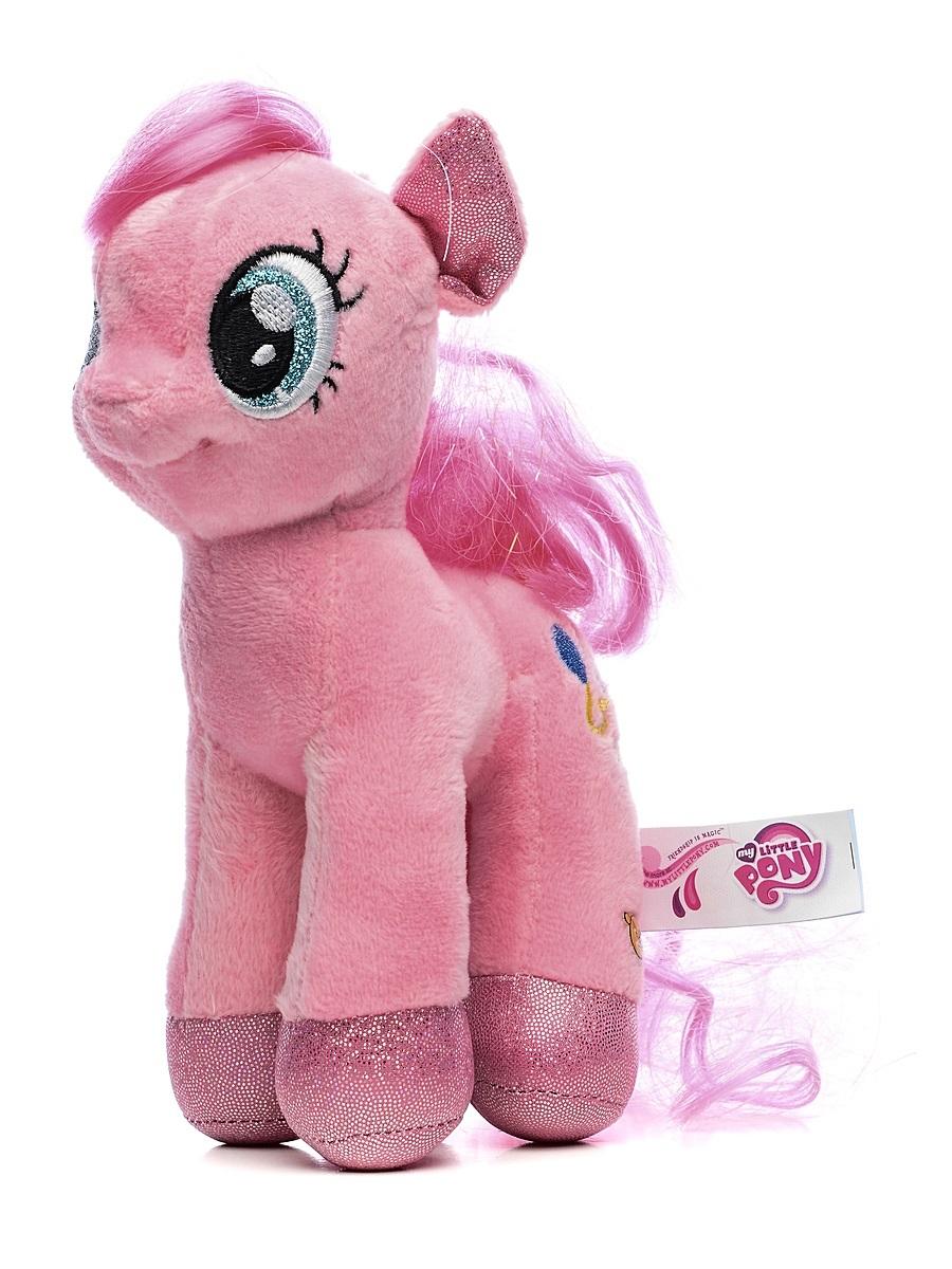 Мягкая игрушка пони Пинки Пай из мультфильма «My Little Pony», 18 см., озвученная с русским чипомМоя маленькая пони (My Little Pony)<br>Мягкая игрушка пони Пинки Пай из мультфильма «My Little Pony», 18 см., озвученная с русским чипом<br>