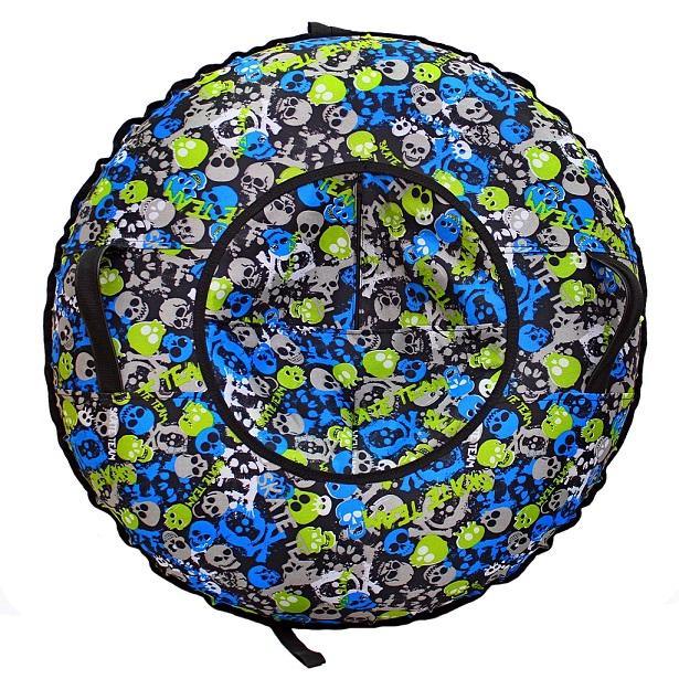 Санки надувные Тюбинг – Черепа, автокамера, диаметр 100 см.