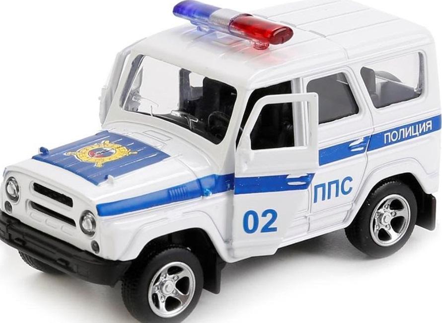 Купить Инерционная металлическая машинка - Полиция, 12, 5 х 5, 7 х 7 см., Play Smart