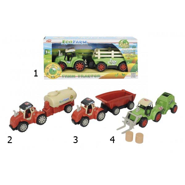 Трактор Эко-ферма, 4 видаИгрушечные тракторы<br>Трактор Эко-ферма, 4 вида<br>