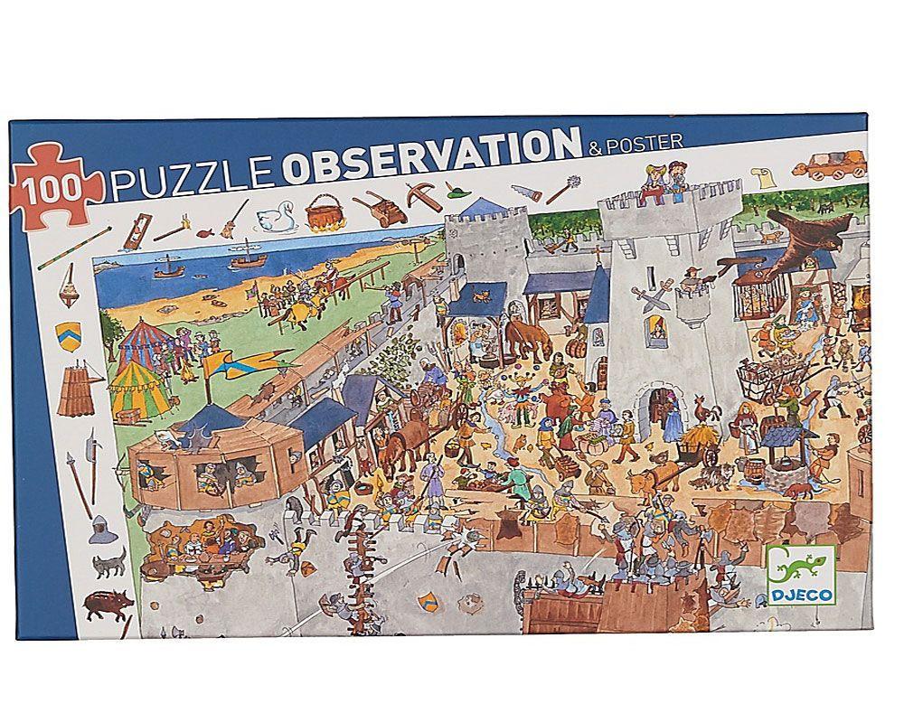 Купить Пазл и игра на наблюдательность Замок-форт – 100 деталей, Djeco
