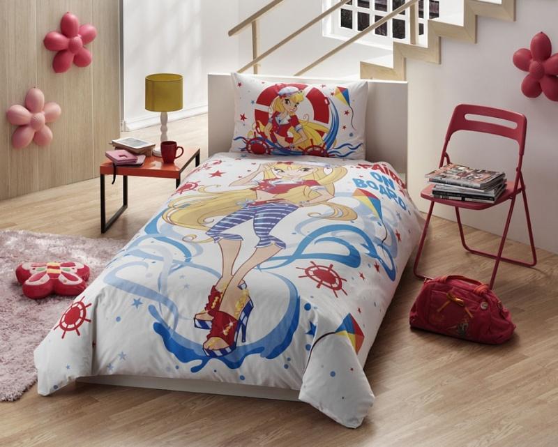 Купить Комплект детского постельного белья, Disney, 1, 5 спальное - WINX STELLA OCEAN, Tac