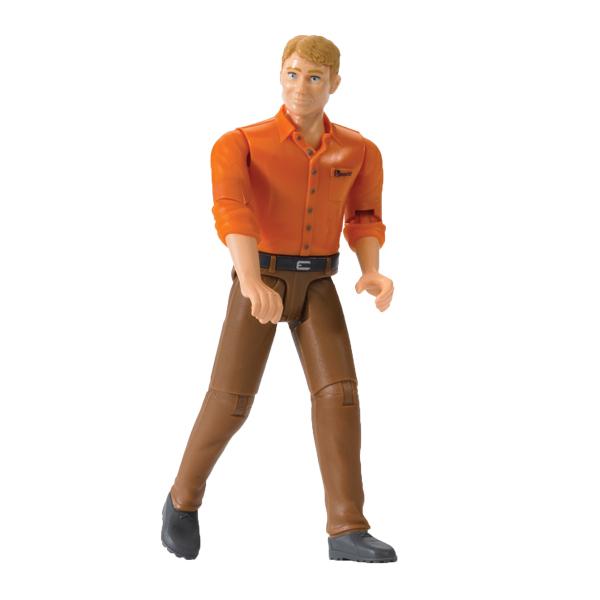 Bruder. Фигурка мужчины в коричневых джинсахАксессуары<br>Bruder. Фигурка мужчины в коричневых джинсах<br>