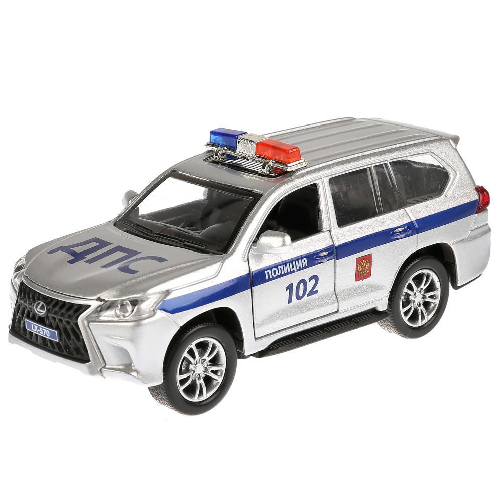 Купить Инерционная металлическая машина Lexus Lx-570 - Полиция, 12 см, свет, звук, Технопарк