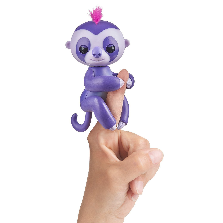 Купить Интерактивный ленивец Fingerlings Мардж пурпурный, 12 см., WowWee