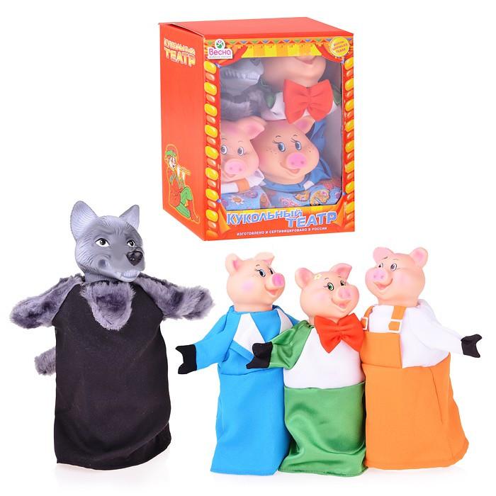 Набор Кукольный театр, 4 персоны, с ширмойДетский кукольный театр <br>Набор Кукольный театр, 4 персоны, с ширмой<br>