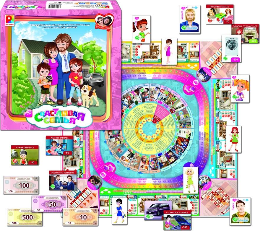 Игра настольная - Счастливая семьяРазвивающие<br>Игра настольная - Счастливая семья<br>