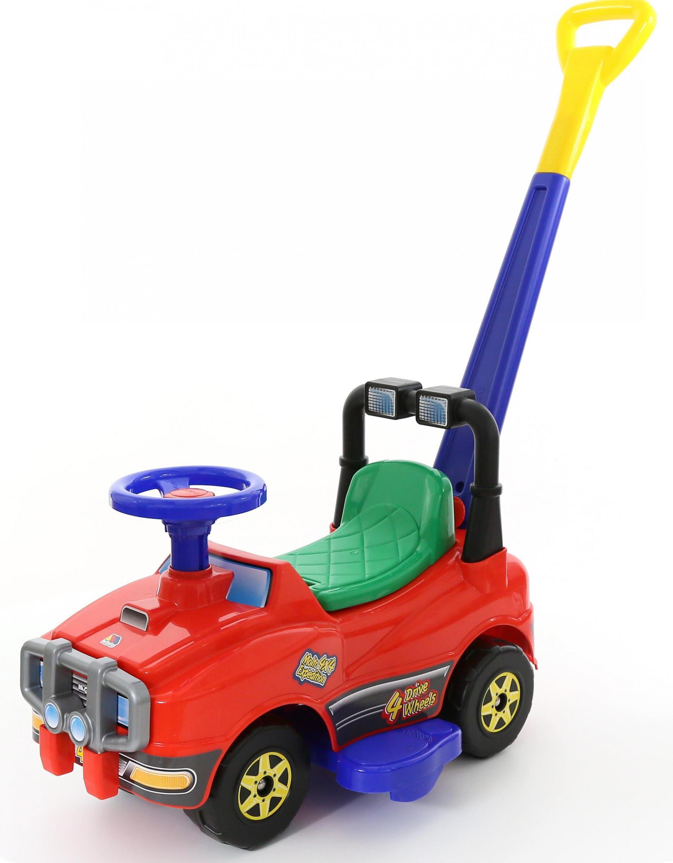Джип-каталка с ручкой  №2, красный - Машинки-каталки для детей, артикул: 165153