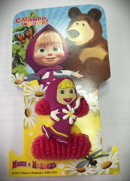 Набор резинок для волос из серии Маша и Медведь – Маша, 2 шт.Маша и медведь игрушки<br>Набор резинок для волос из серии Маша и Медведь – Маша, 2 шт.<br>