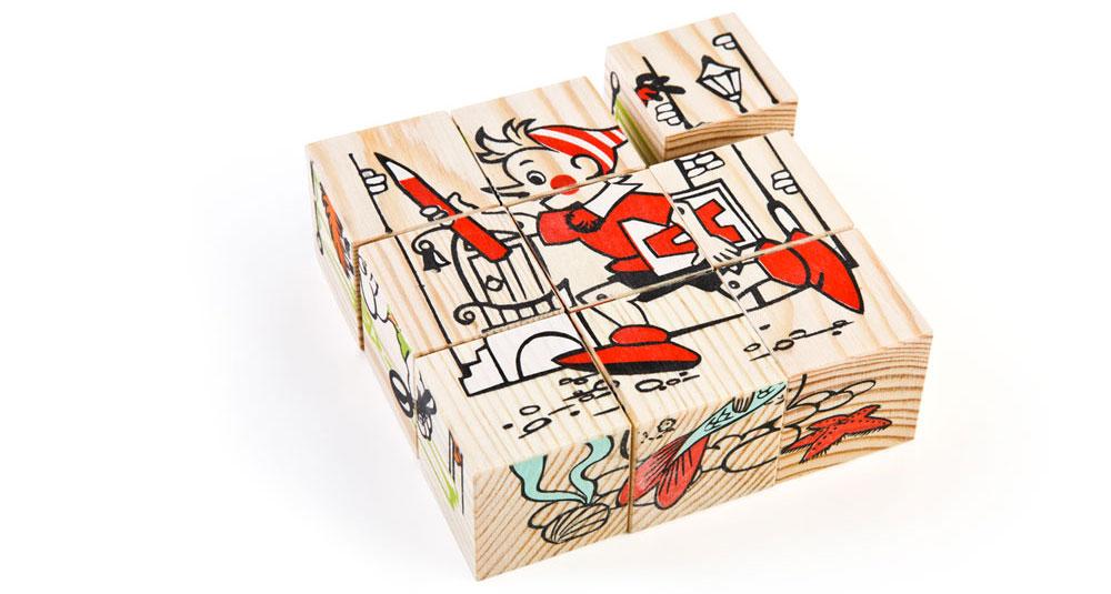 Набор из 9-и кубиков - Герои сказок из серии Сложи рисунокКубики<br>Набор из 9-и кубиков - Герои сказок из серии Сложи рисунок<br>