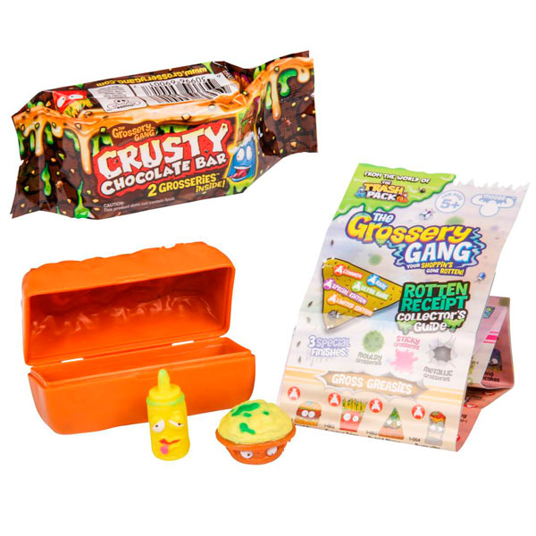 Набор из 2 фигурок серии The Grossery Gang, упаковка в виде шоколадного батончикаGrossery Gang<br>Набор из 2 фигурок серии The Grossery Gang, упаковка в виде шоколадного батончика<br>
