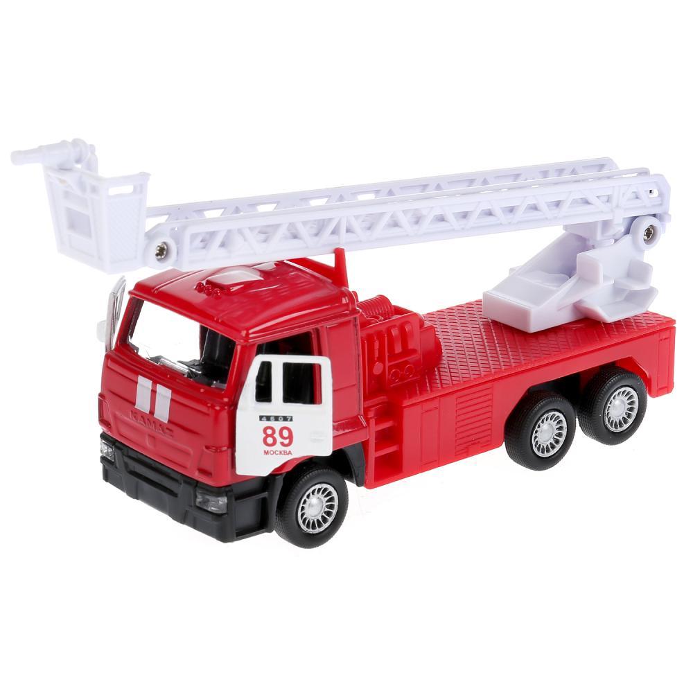 Купить Пожарная машина Камаз, 12 см, металлическая инерционная, Технопарк