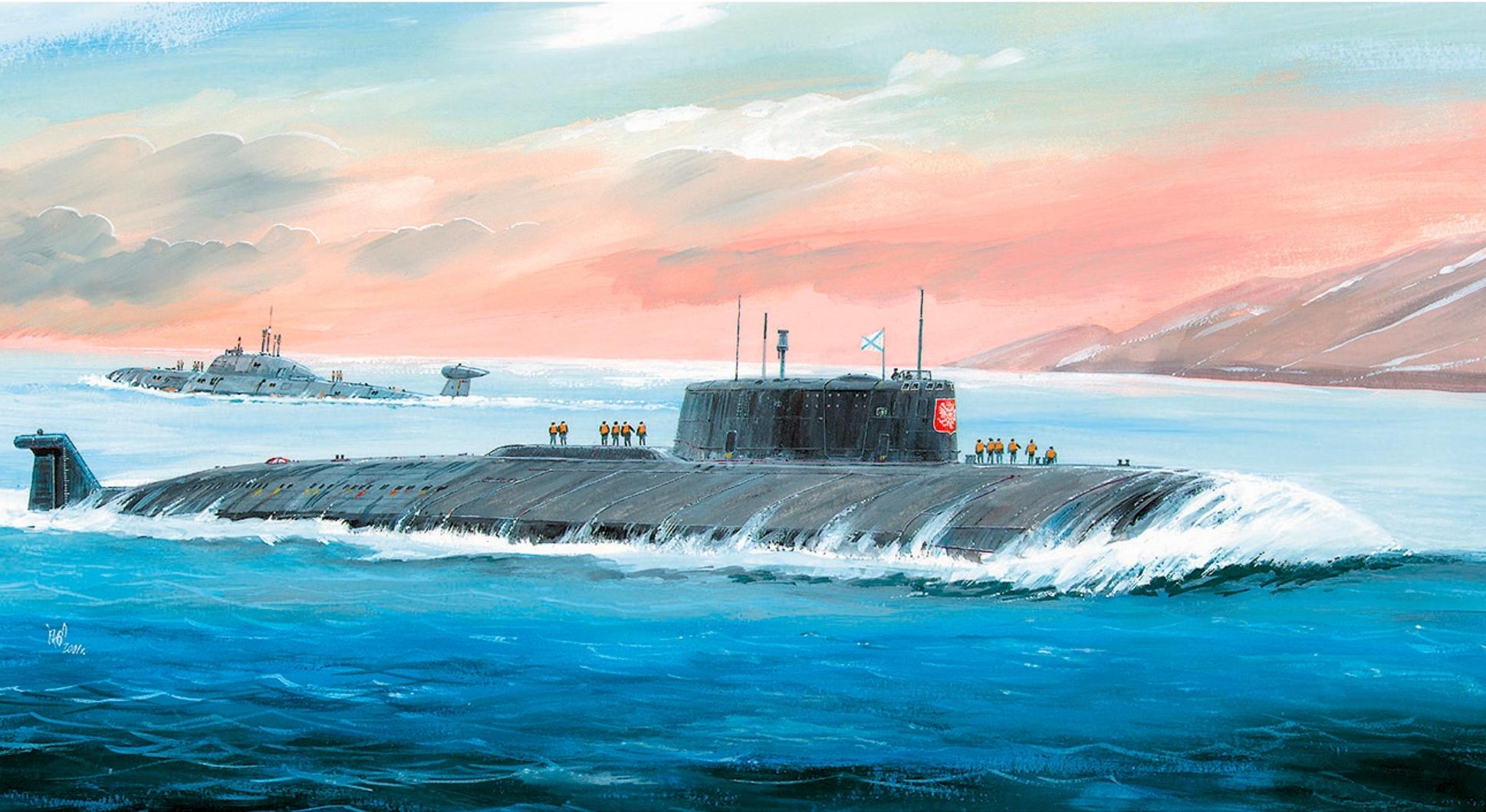 Модель для склеивания - Российский АПЛ КурскМодели кораблей для склеивания<br>Модель для склеивания - Российский АПЛ Курск<br>