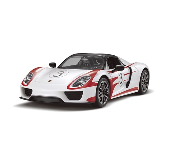 картинка Машина на радиоуправлении Porsche 918 Spyder, цвет белый, 40MHZ, 1:14 от магазина Bebikam.ru