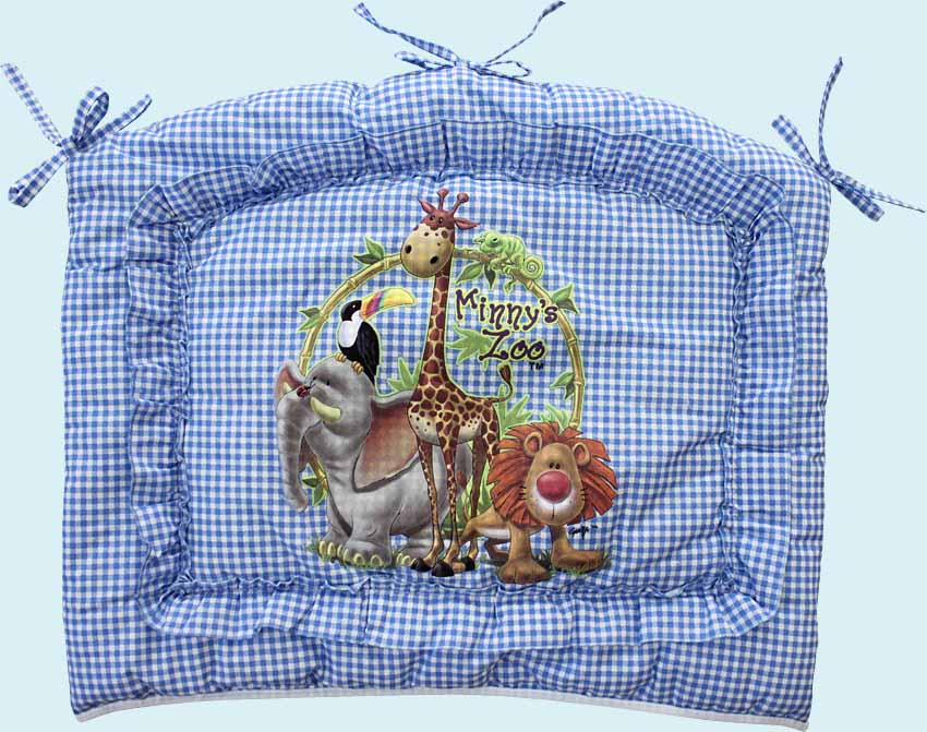 Бампер - Аленка, голубойБампер в кроватку<br>Бампер - Аленка, голубой<br>