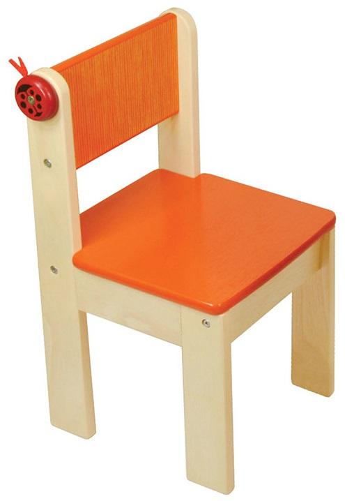 Деревянный стульчик Im Toy, оранжевыйИгровые столы и стулья<br>Деревянный стульчик Im Toy, оранжевый<br>