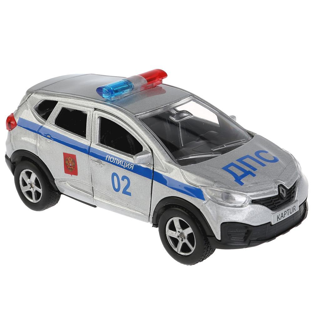 Купить со скидкой Машина металлическая Renault Kaptur полиция 12 см, открываются двери, инерционная