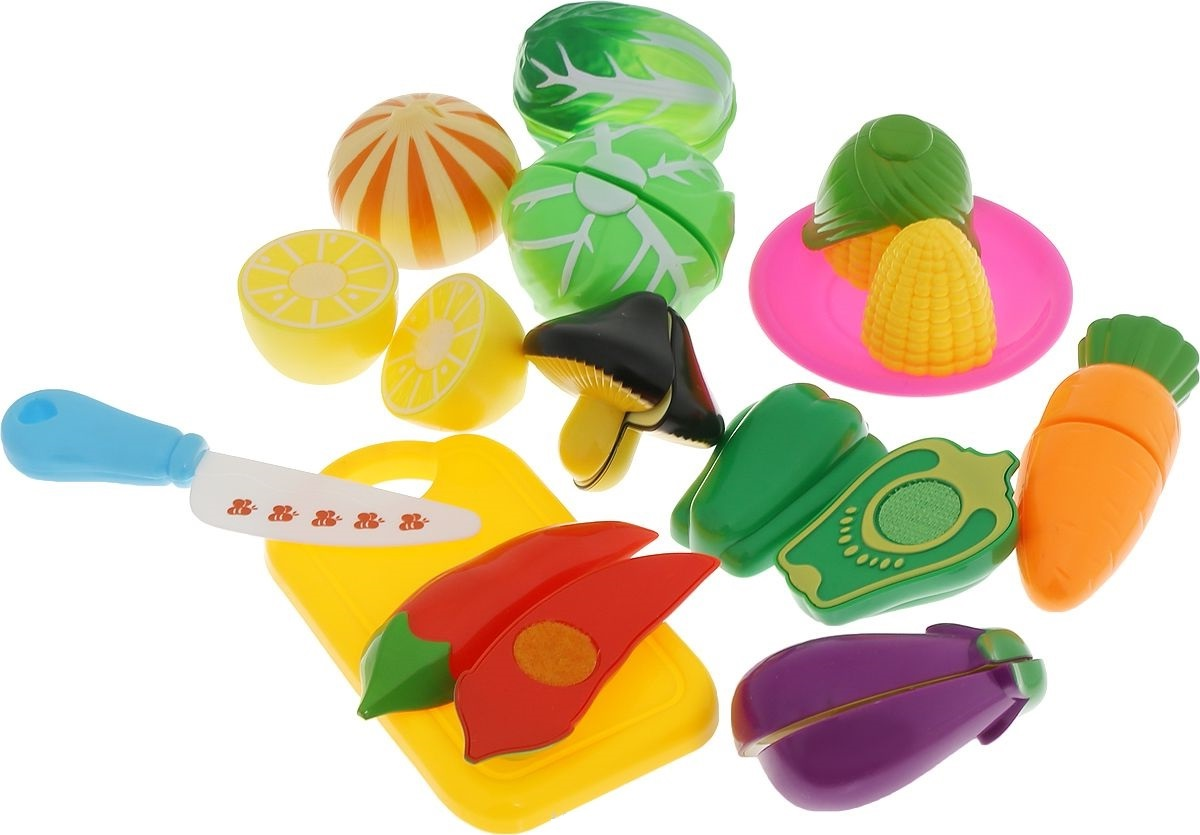 Набор продуктов для резки, на липучкахАксессуары и техника для детской кухни<br>Набор продуктов для резки, на липучках<br>