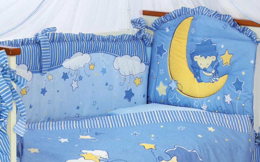 Бампер Ёжик - Топа-Топ, голубойБампер в кроватку<br>Бампер Ёжик - Топа-Топ, голубой<br>