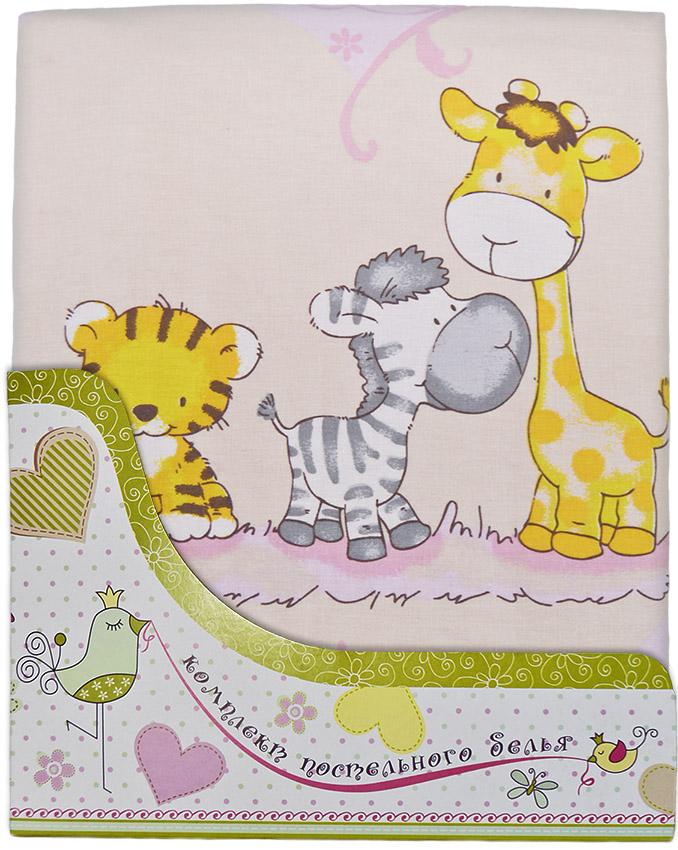 Комплект постельного белья Сафари, розовыйДетское постельное белье<br>Комплект постельного белья Сафари, розовый<br>