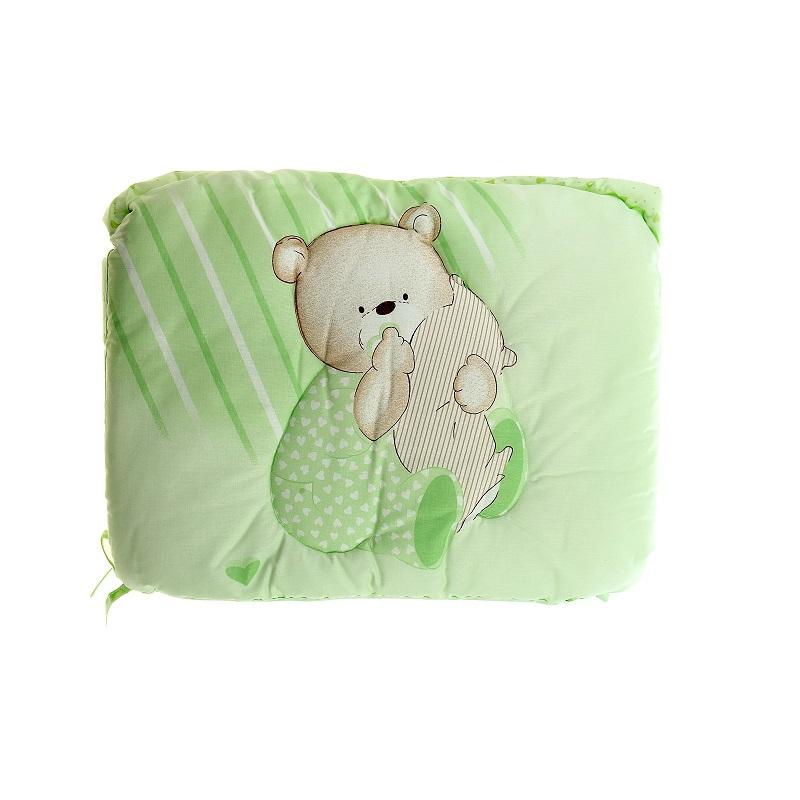 Бампер - Мишутка, зеленыйБампер в кроватку<br>Бампер - Мишутка, зеленый<br>