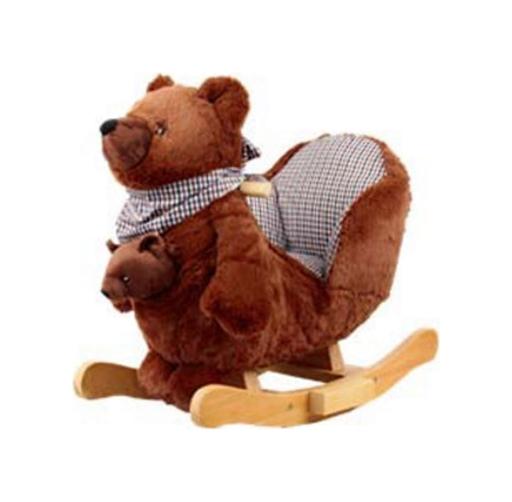 Меховая качалка со звуковыми эффектами. Медведь - Детские кресла-качалки, артикул: 157372