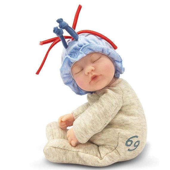 Купить Кукла-младенец из серии Знаки зодиака – Рак, 23 см., Unimax