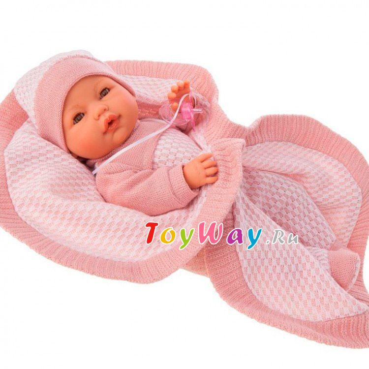 Купить Интерактивная кукла - Амая в розовом, плачет, 37 см, Antonio Juans Munecas